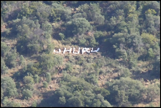 24-05-10..The word Uhuru made on a koppie with painted rocks outside Bloemfomntein along the N8 to Kimberley has created unhappiness among farmers...Photo: EMILE HENDRICKS Bloem Foto24