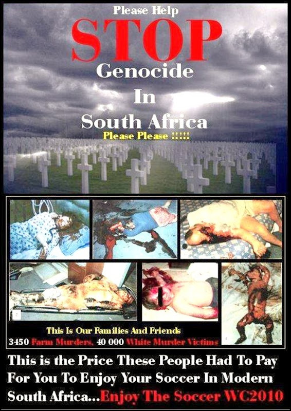 STOP BOER GENOCIDE POSTER ENJOY THE WC2010