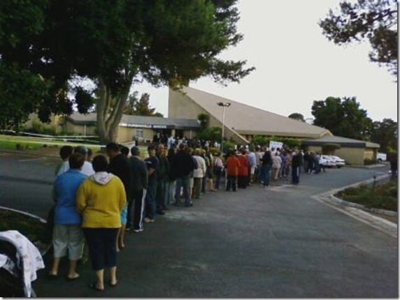 Durbanville Voters waiting patiently Pic Timothy Vieyra News24 reader