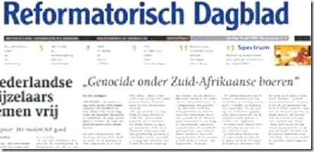 Genocide Onder Zuid-Afrikaanse boeren Reformatorisch Dagblad NL Apr 15 2009