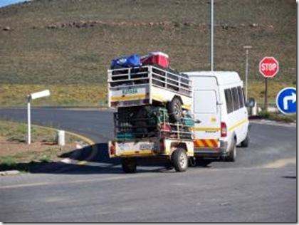 Overloaded minibus taxi