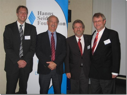 Dr Johan Burger second left at German SA crime seminar