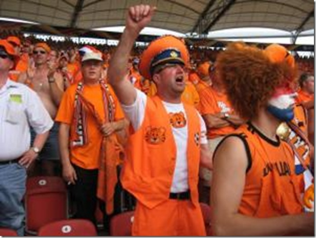 Oranje General Winfried Witjes of Elst Dutch fans will wear orange