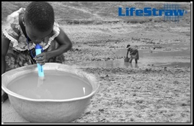 lifestraw individual drinking water filter lasts a year
