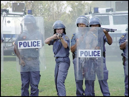 More than half of SA cops are nonoperational and 200 cops a year killed in SA 2009 picture SAPS