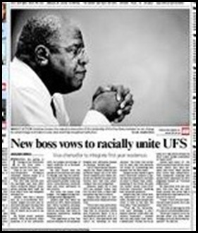 Free State University's new boss vows to racially unite Aug 28 The Star