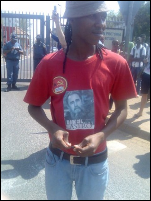 Black SASCO student demonstrator Pretoria U Sept82009