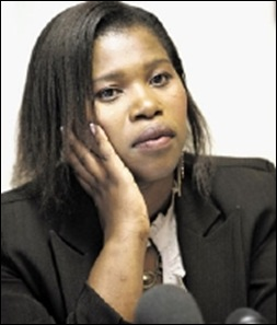 Mda_Anele_fired from Cope but not as MP for White Bitch slur Sept 23 2009 Sowetan