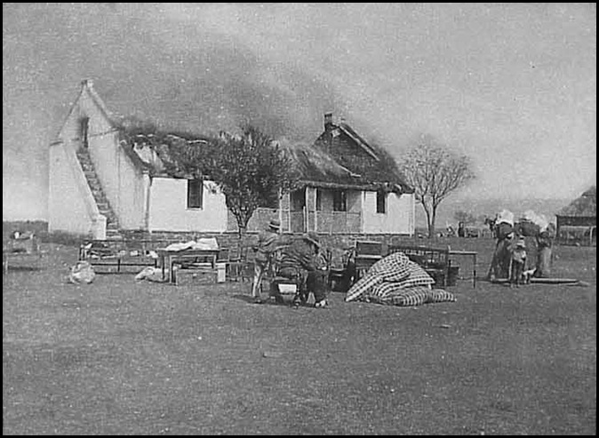 Scorched Earth campaign by the British against Boer women and children