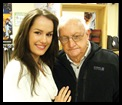 Schoeman Magdalena Miss NZ-World with granddad Fabie 86 Oudtshoorn moved to NZ age 6