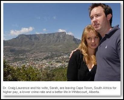 EmigrationSASkilledWites Laurence Dr Craig wife Sarah to Whitecourt Alberta Canada
