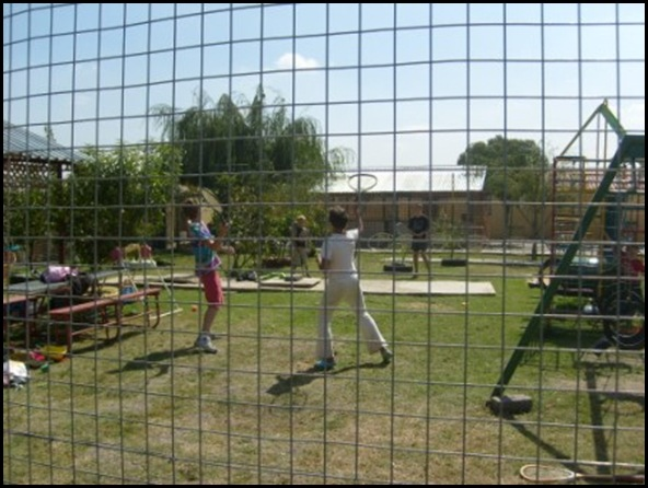 Lochvaal Afrikaner children have a protested playground to stop armed attackers