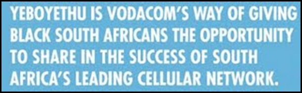 Vodacom Yeboyethu investment scheme for black South Africans