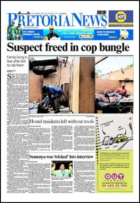 Pienaar family attacked but police released suspect Nov 16 2009