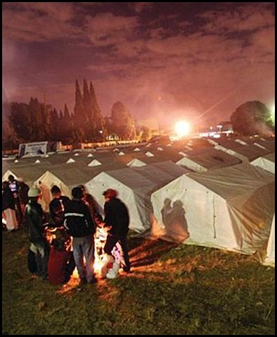 Refugee camp for African migrants in South Africa Primrose East Rand