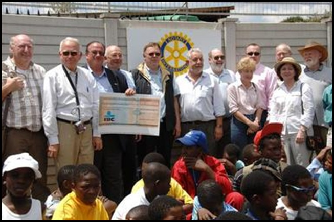 Dutch Rotarians support Orange Farm squatter camp orphanages with huge donations
