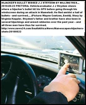 Strydom JJ vehicle evaluator Mamelodi attack June 22 2010 Beeld Wayne Coetzee pic