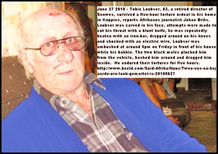 Loubser Tobie tortured 5hrs Koppies carved with knife electric shock Koppies 27June2010
