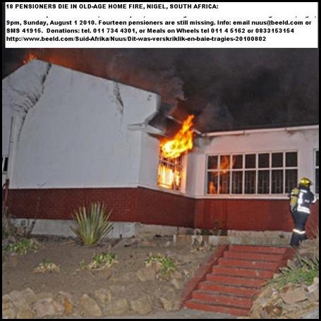 Nigel Pieter Wessel OldAgeHome FireKilled18_Afrikaner_pensioners_hosp_81 Aug12010_9pm