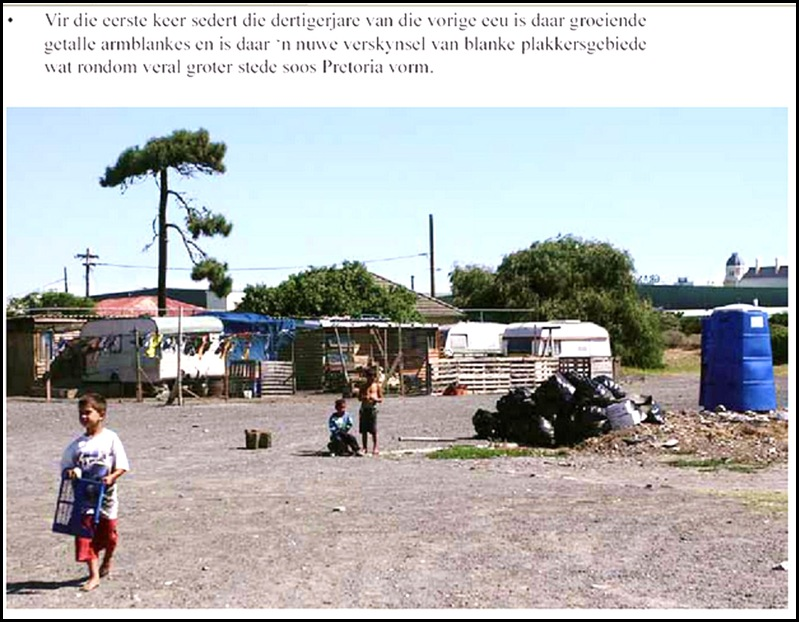 Growing need among destitute Afrikaners, is not difficult to see