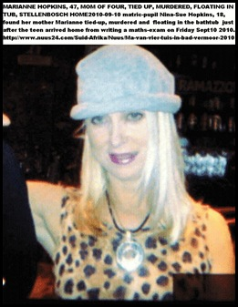 Hopkins Marianne 47 murdered mom of four Stellenbosch Sept102010