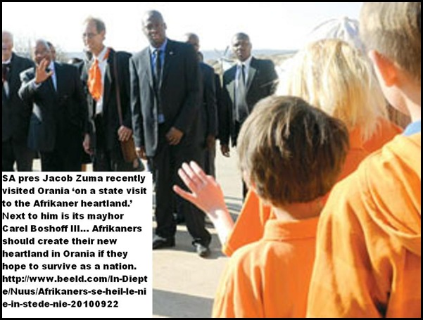 Orania visit by Pres Jacob Zuma Sept 21 2010