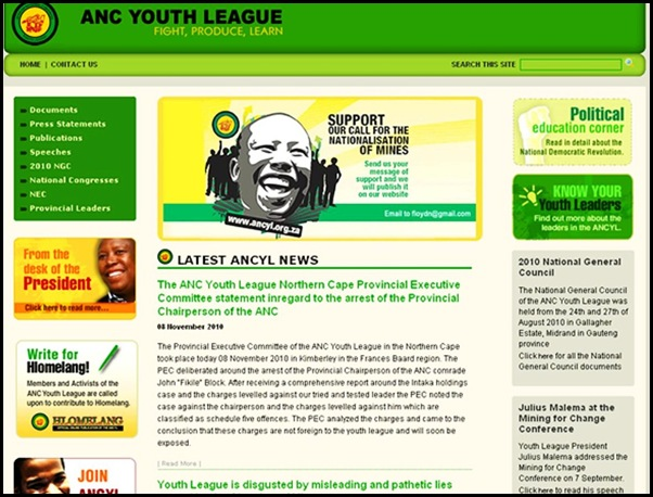 ANC YOUTH LEAGUE SUPPORTS NORTH KOREA AND HATE ALL WHITES