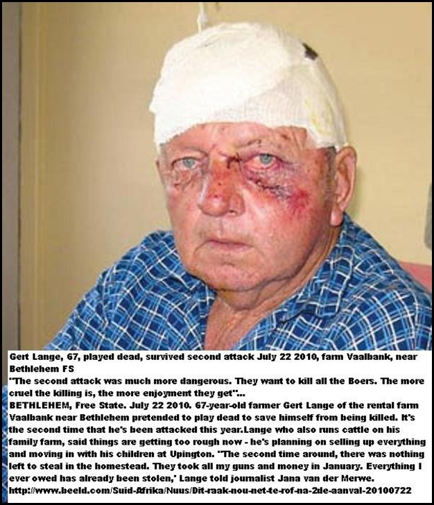 Lange Gert 67 survives second attack July222010 Vaalbank Bethlehem FS