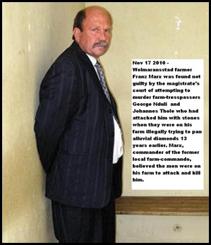 Marx Franz Wolmaransstad farmer NOT GUILTY farm_attack_self_defence_case_1997