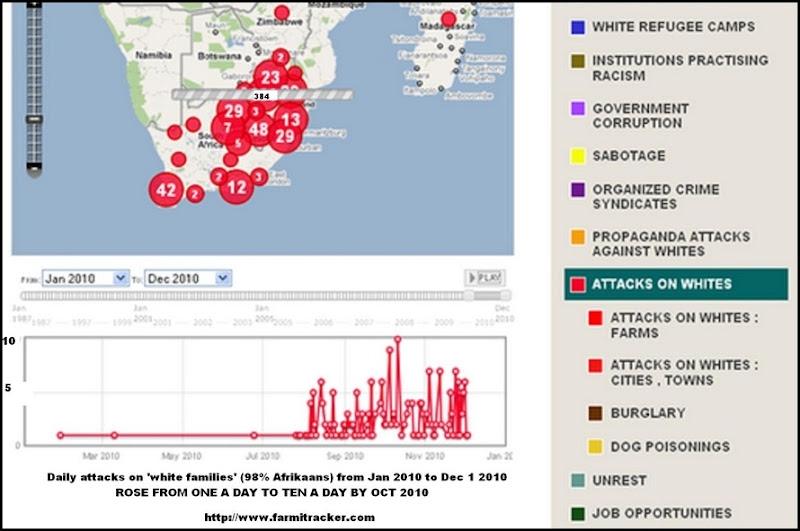 Attacks on Whites Jan2010 _ Dec 1 2010 ROSE TO AVERAGE SIX A DAY