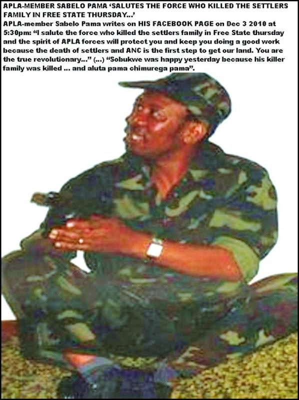 ANTIWHITE HATESPEECH SABELO PAMA PAGE2 POTGIETER MURDER DEC32010 FACEBOOK