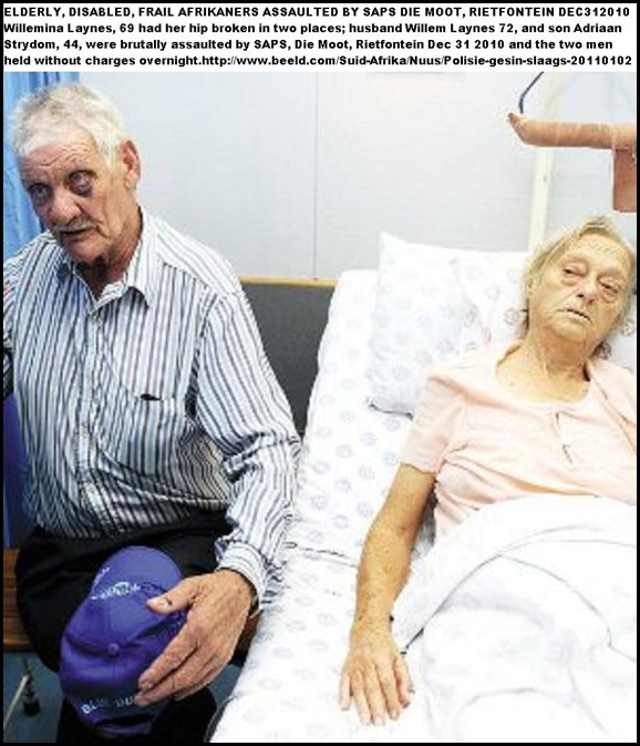 Laynes Willem and Willemina in hospital after beatings by cops Piic Deaan Vivier