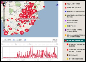 Murder attacks against SA whites June2010_Jan302011