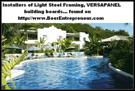 Light Steel Framing and Versapanel Building Boards Installations found on BoerEntrepreneur