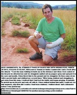 Lambrechts Alec 39 stabbed 9times KrugersdorpKloofCyclingMar302011