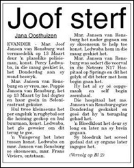 Rensburg van Joof Janse, dead shot by cop Evander 13 march2011