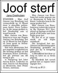 Rensburg van Joof Janse, dead shot by cop Evander 13 march2011
