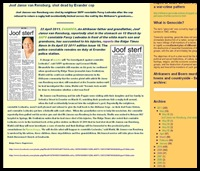 VAN RENSBURG JOOF JANSE SHOT KILLED BY EVANDER COP MARCH132011 PERCY LEDWABA