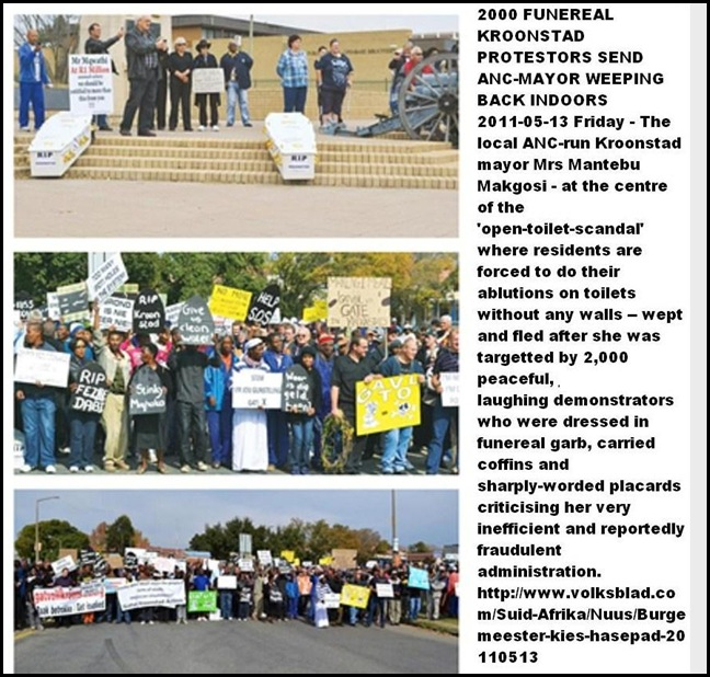 KROONSTAD ANTI ANC FUNERAL PROTESTORS MAY132011