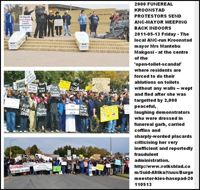 KROONSTAD ANTI ANC FUNERAL PROTESTORS MAY132011