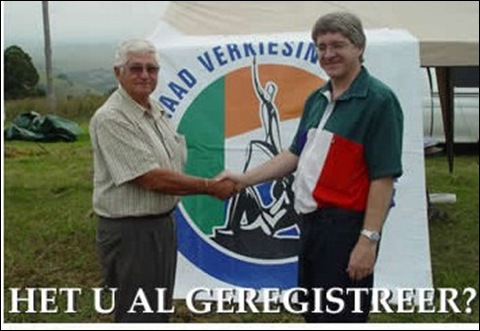 Volksraad Verkiesings Kommissie Foto HET U AL GEREGISTREER