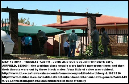 COLLEN JOHN AND SUE AIRFIELD BENONI THROATS CUT MAY172011