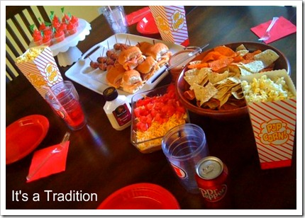 Football home tailgate