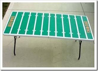 Football tailgating table tutorial