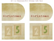 Burlap Inspired Holiday Gift Tags