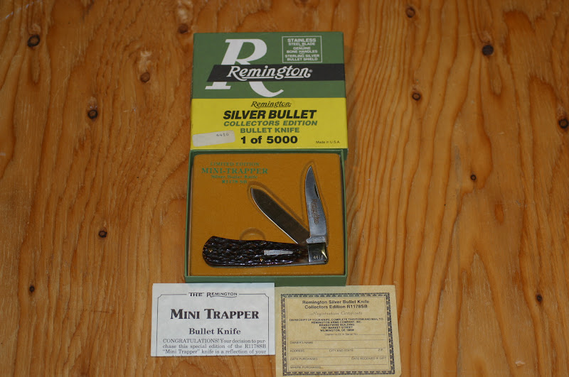 knv K4 Remington Remington Bullet Knife R1178SB Mini Trapper