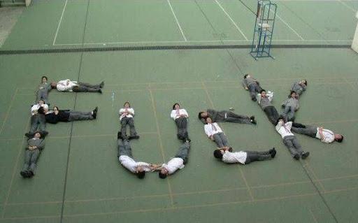 """学生们对学校的""""爱"""""""