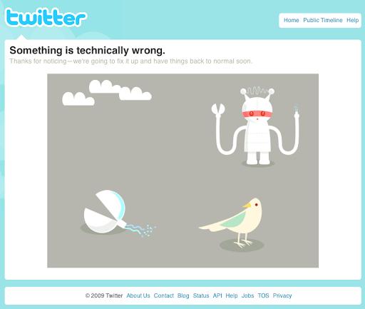 Twitterfehlermeldung