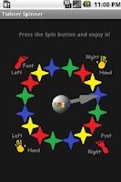 Screenshot of Twister Spinner