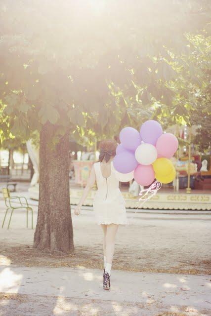 pandora & cherry blossom girl balloons